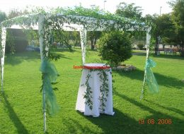 Gazebo Tül ve Çiçek Süsleme İzmir Organizasyon