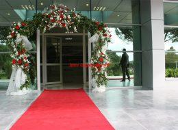 Yürüyüş Yolu Tül ve Çiçek Süsleme İzmir