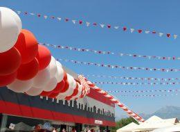 Zincir Balon ve Üçgen Bayrak Süsleme Fethiye