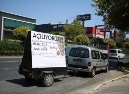 Reklamlı Full Konsept Açılış Organizasyonu Sesli Anons Aracı Kiralama İzmir