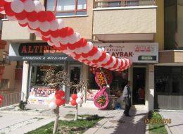 Çiğ Köfteci Birlik Şubesi Açılış Organizasyonu Balon Süsleme İzmir Organizasyon