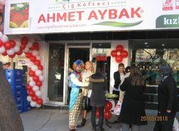 Çiğ Köfteci Açılış Organizasyonu Balon Süsleme İzmir Organizasyon