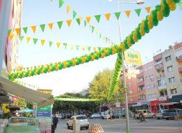 Balon ve Bayrak Süslemeleri Açılış Organizasyonu