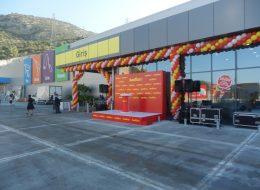 Baumax Açılış Organizasyonu Zincir Balon Süsleme İzmir Organizasyon