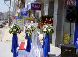 Doğtaş Bornova Açılış Organizasyonu Çiçek ve Kumaş Süsleme İzmir Organizasyon
