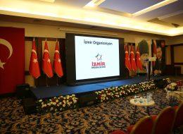 Protokollü Açılış Organizasyonu Protokol Sehpası ve Led Ekran Kiralama İzmir
