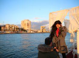 Karşıyaka Yelken Kulübünde Romantik Evlilik Teklifi Organizasyonu İzmir