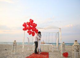 Kumsalda Sürpriz Evlilik Teklifi Organizasyonu İzmir