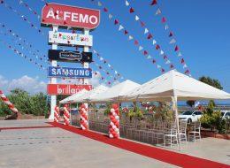 Finike Alfemo Mağazası Açılış Organizasyonu Çadır ve Gölgelik Kiralama