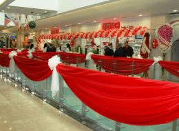 Mağaza Açılış Organizasyonu Tül ve Kumaş Süsleme İzmir Organizasyon