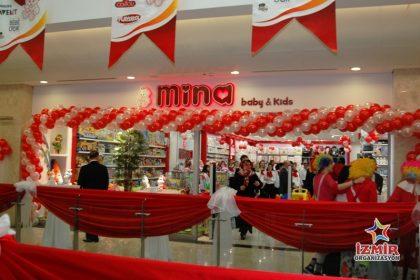 Mina Baby Kids Açılış Organizasyonu İzmir Tül ve Kumaş Süsleme İzmir Organizasyon