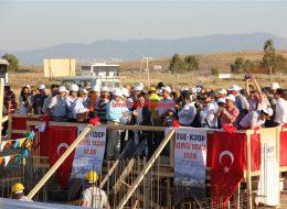 Temel Atma Töreni Organizasyonu Bayrak Süsleme