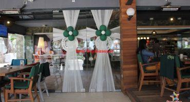 Açılış Organizasyonu Papatya Balon ve Tül Süsleme İzmir Organizasyon